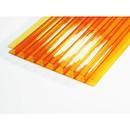 Сотовый поликарбонат, оранжевый 4 мм 2,1х6 м, плот. 0,5 кг/м2