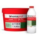 Клей Homakoll 777 2K PU, 10 кг (8,93+1,07 кг), 800-1200г/м2, зеленого цвета, морозостойкий