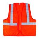 Жилет сигнальный оранжевый, флуоресцентный, XL