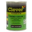 Эмаль акриловая универсальная Clever зеленая полуматовая, 2кг