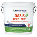 Краска для стен и потолков FINNCOLOR Oasis Hall&Office, глубокоматовая, база А, 0,9л