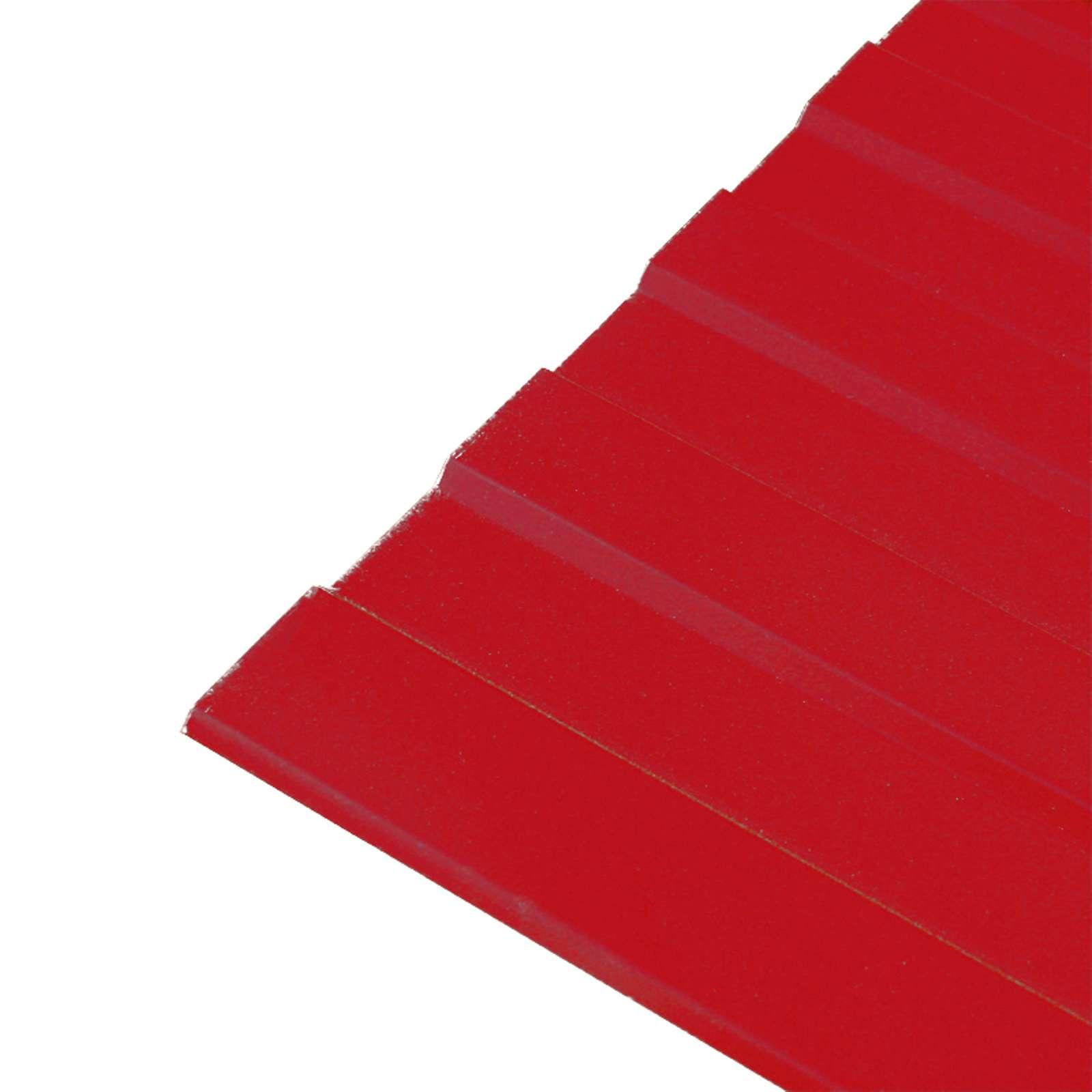 Профнастил С-8 1200* (ПЭ-3020-0,45 мм) Красный