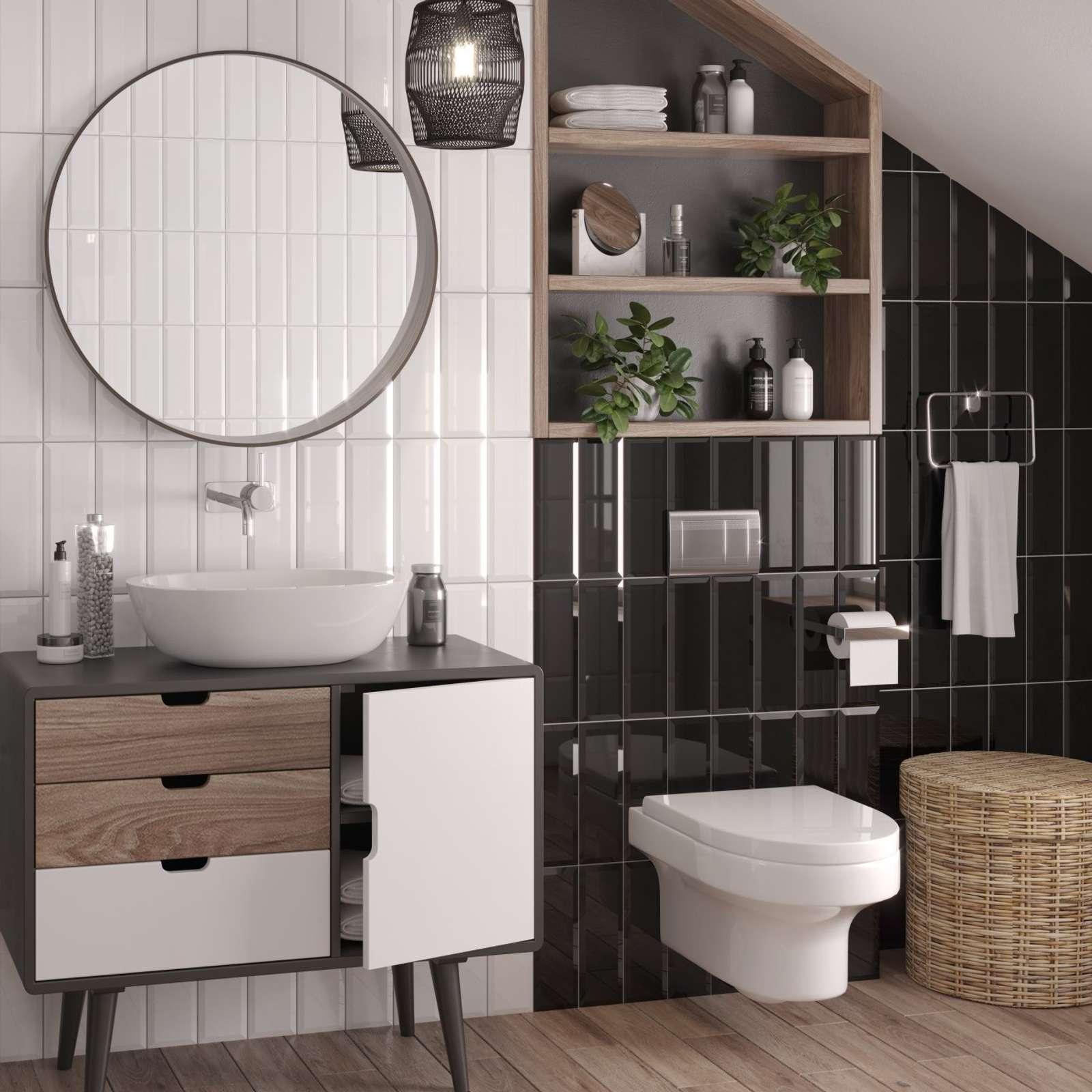 Плитка обл. 100х300мм Metro black wall 01 Gracia Ceramica