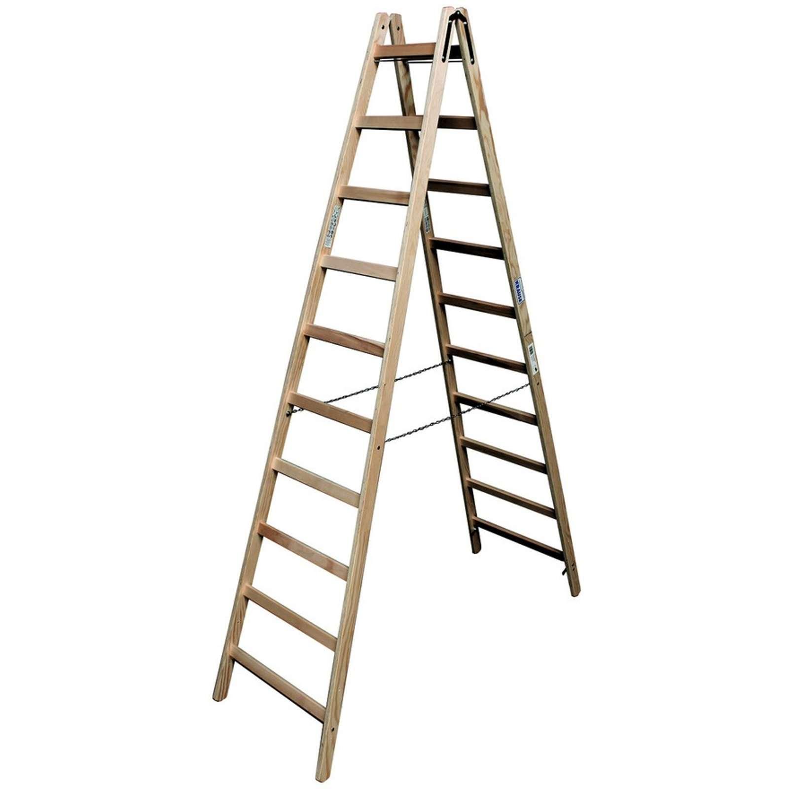 Двусторонняя лестница из дерева Krause, 405 см
