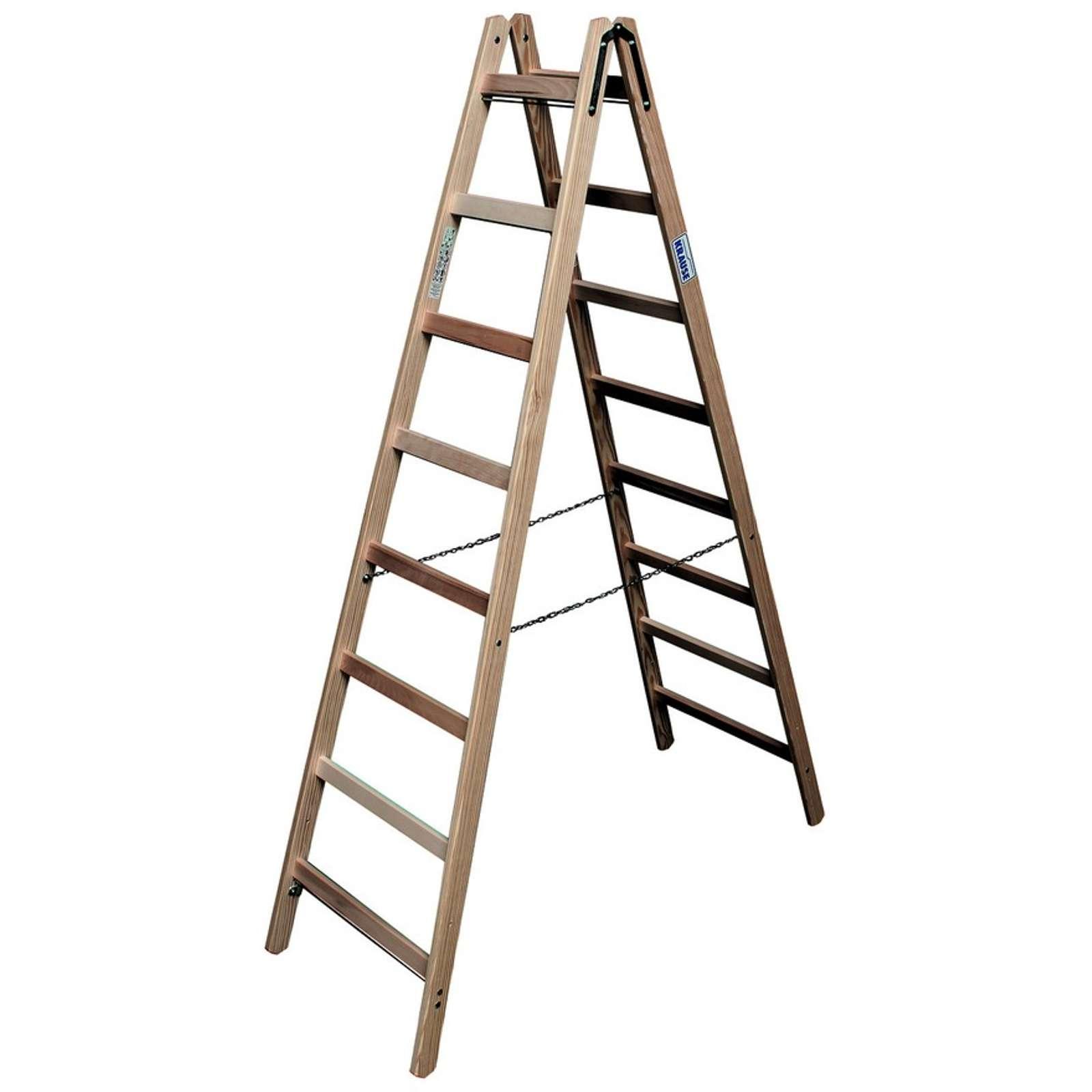 Двусторонняя лестница из дерева Krause, 350 см