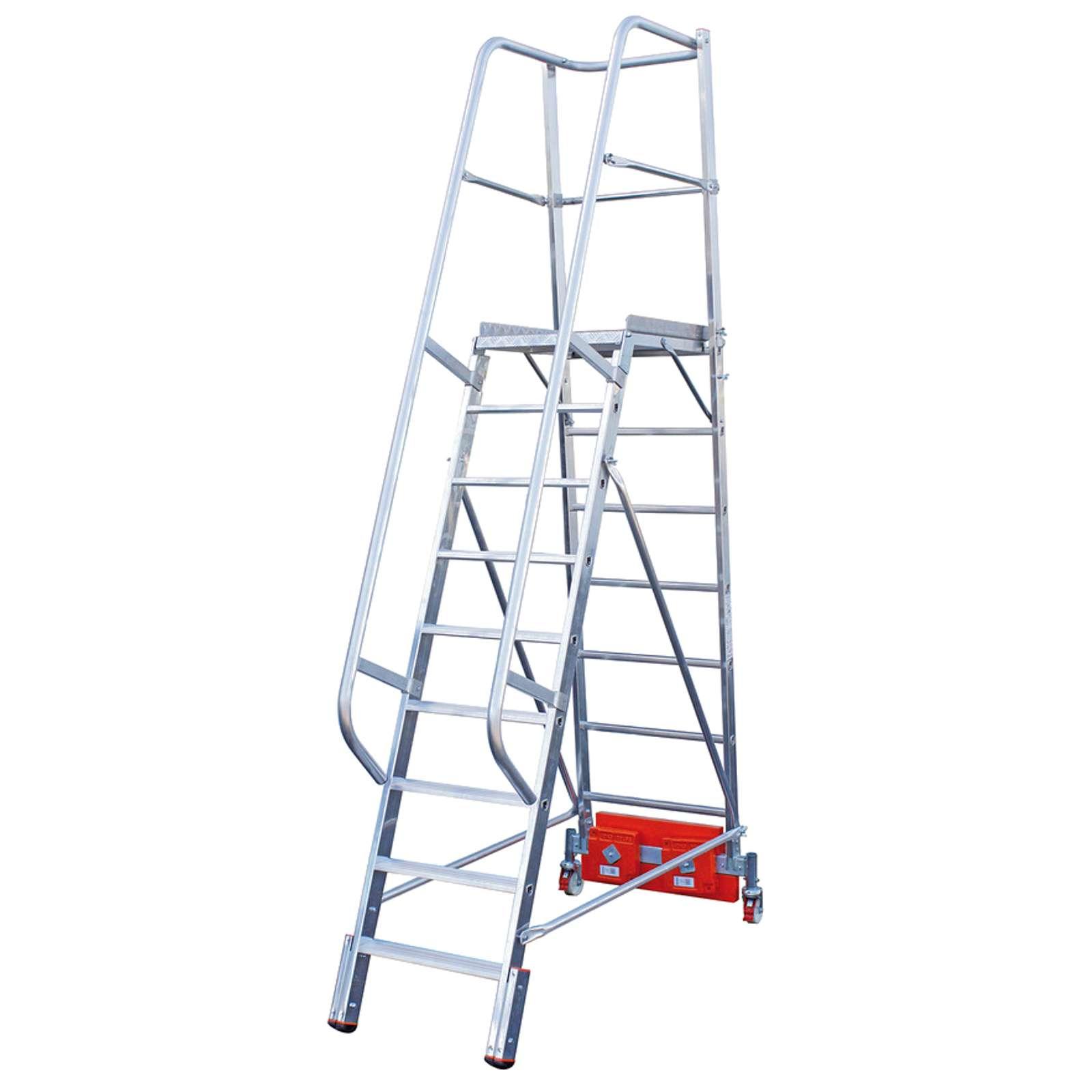 Лестница с платформой Krause Vario, 475 см