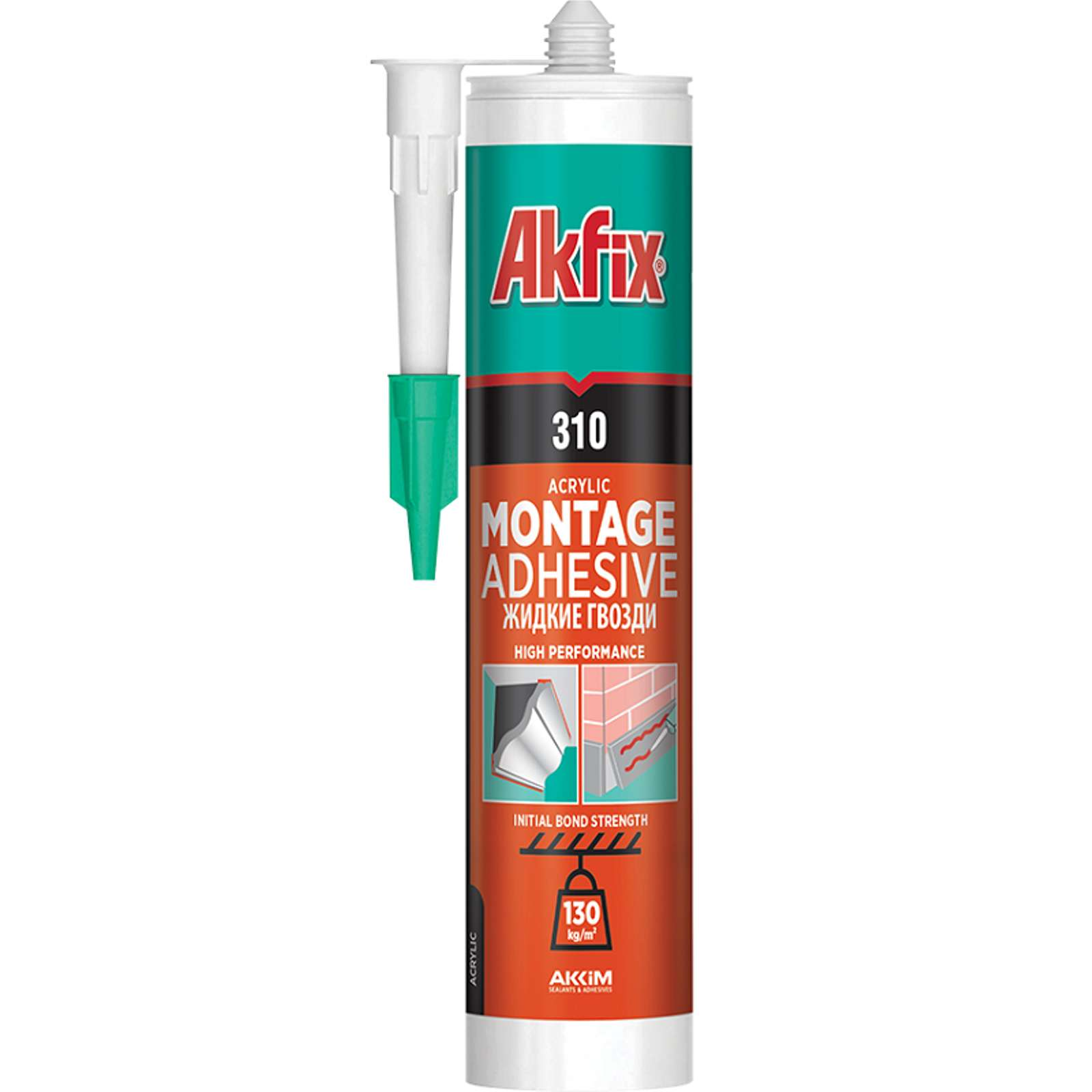 Клей жидкий гвоздь Akfix 310 (310 мл)