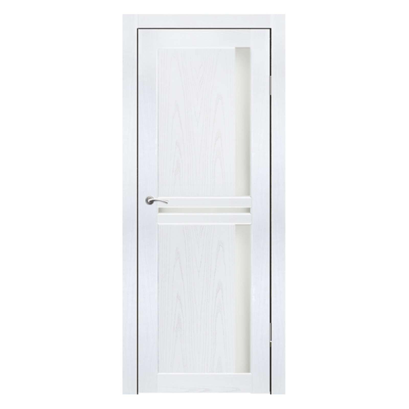 Полотно дверное остекленное Эль Порте СИНЕРЖИ ясень белый ПВХ, ПДО 900х2000мм