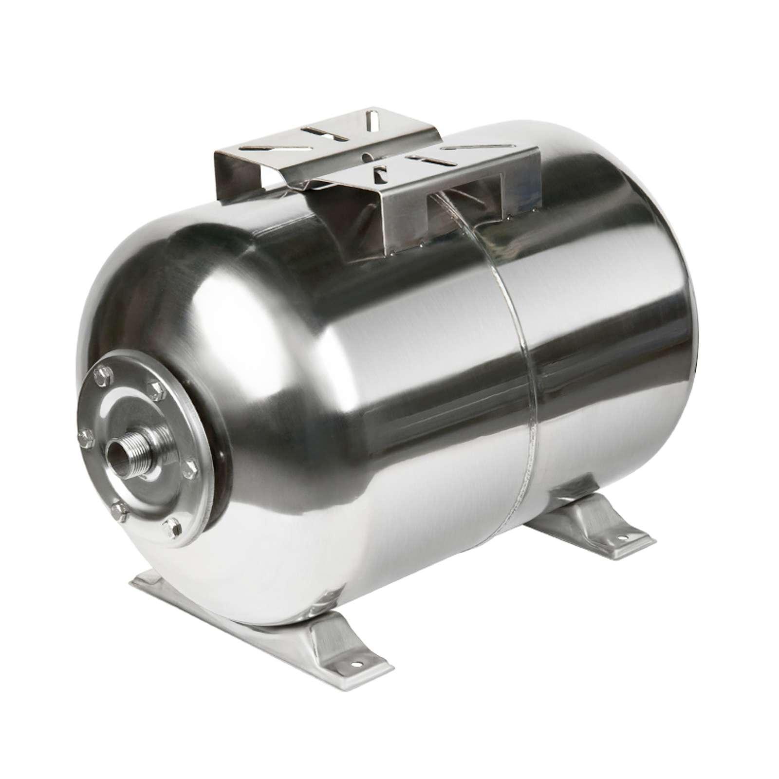 Гидроаккумулятор Unipump 100 л из нержавеющей стали горизонтальный