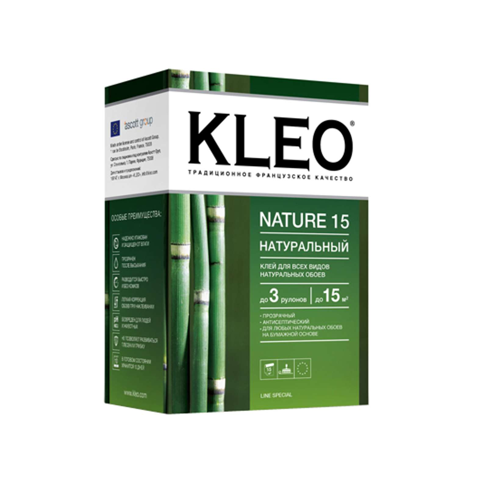 KLEO NATURE 15, Клей для натуральных обоев