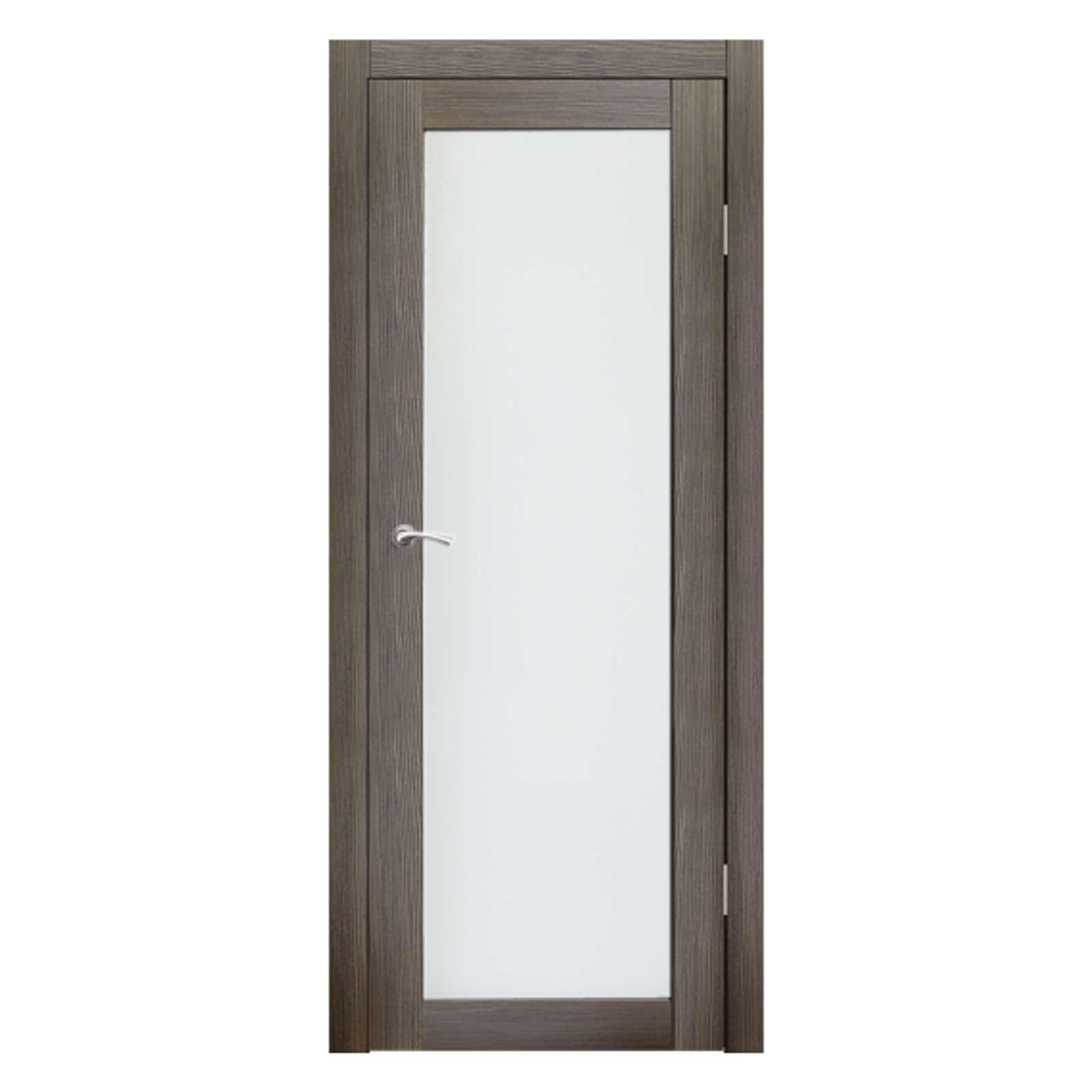 Полотно дверное остекленное Легро СИНЕРЖИ акация темная ПВХ, ПДО 800х2000мм