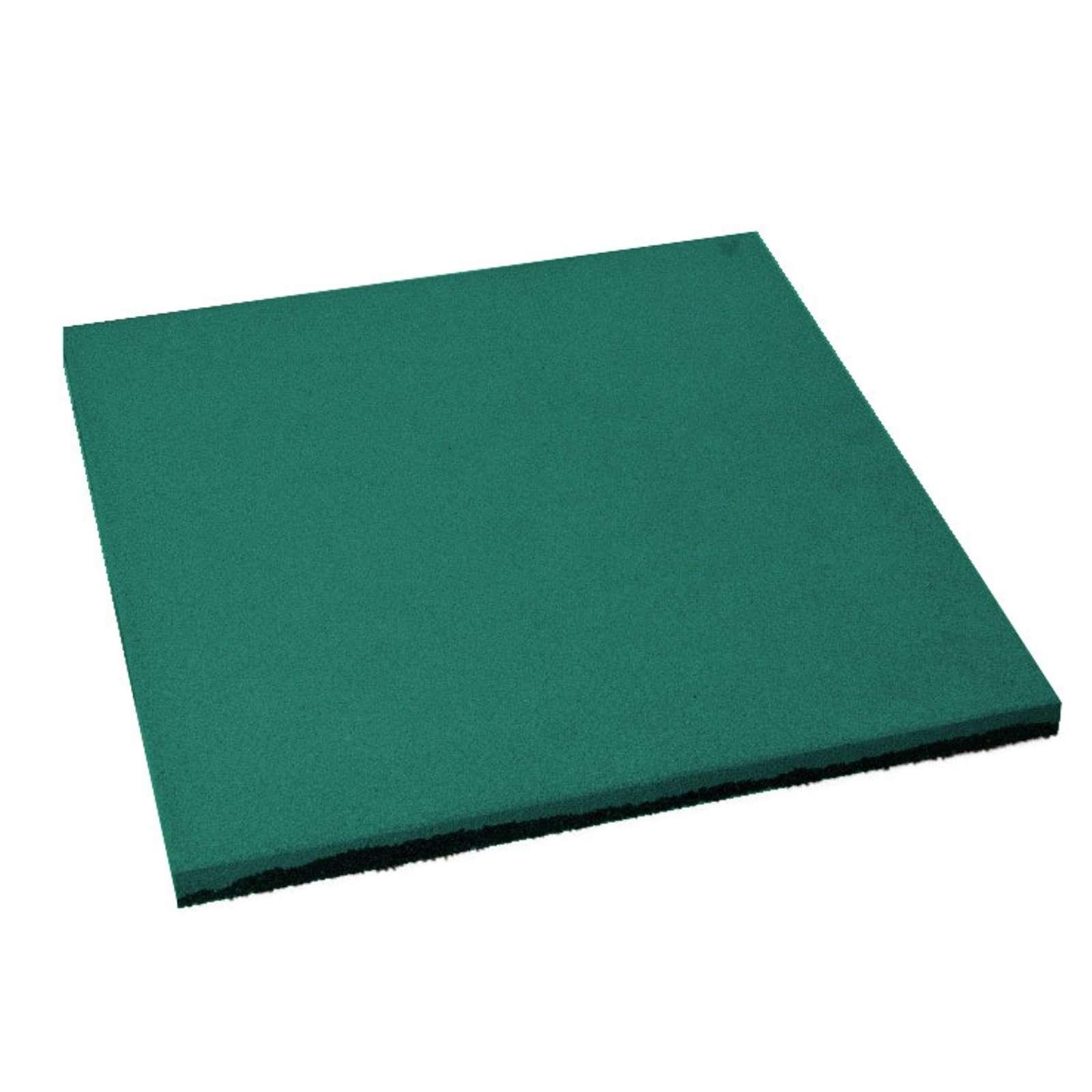 Плитка резиновая 500*500мм, 30 мм (с ровным дном) зеленая