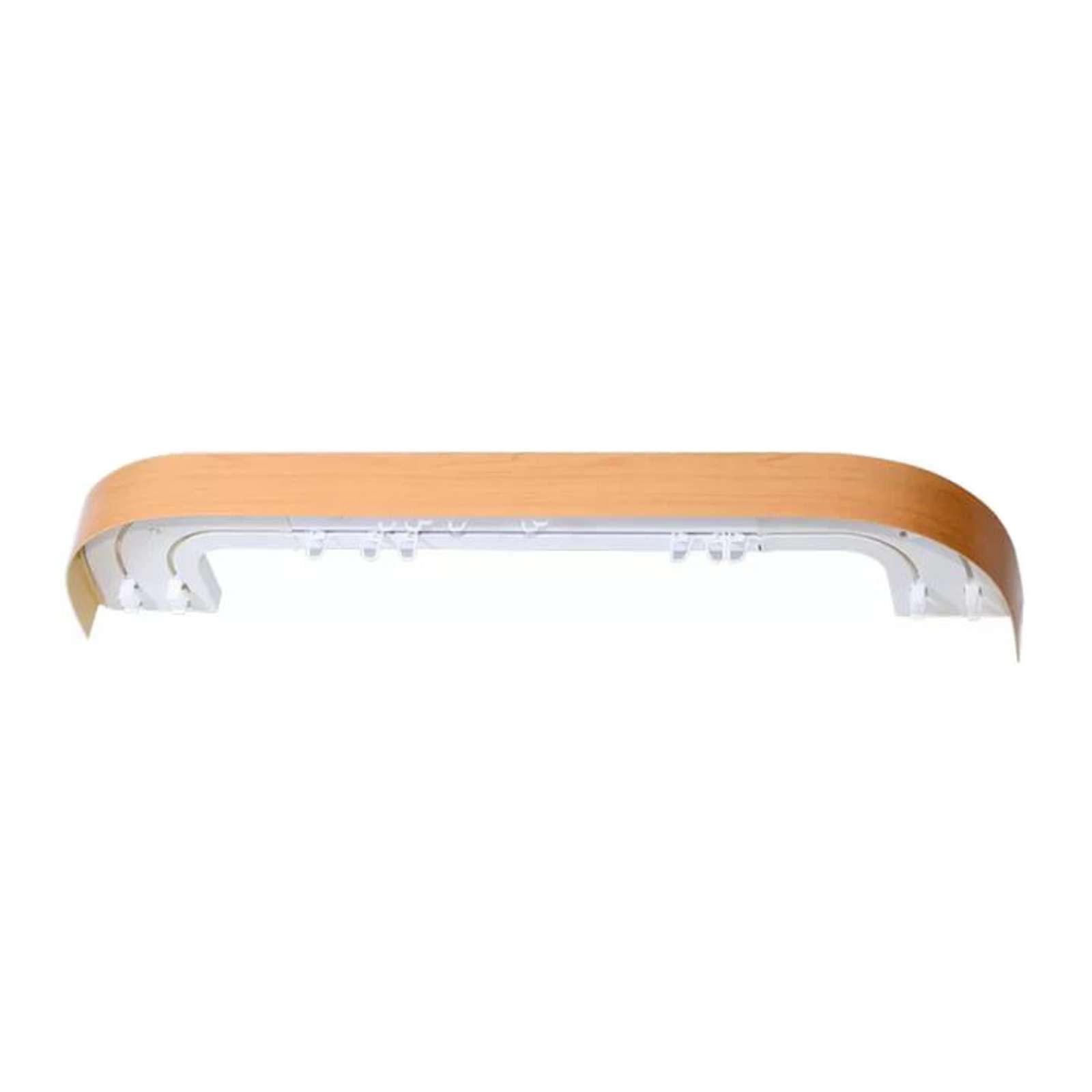 Карниз потолочный с планкой (бук) для штор двухрядный 2,0м, Магеллан