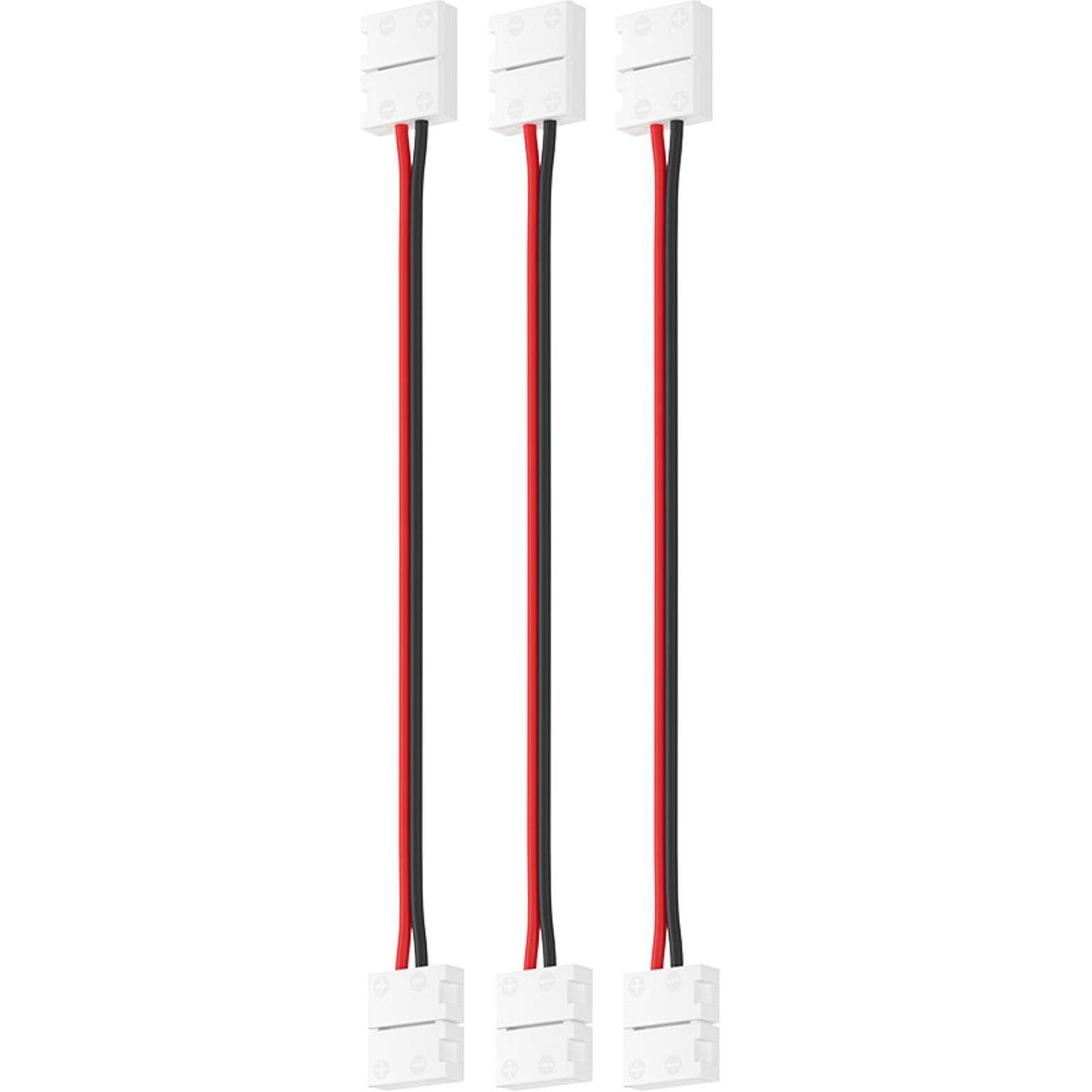 Набор проводов для гибкого соединения одноцветной светодиодной ленты шириной 8 мм 3 шт