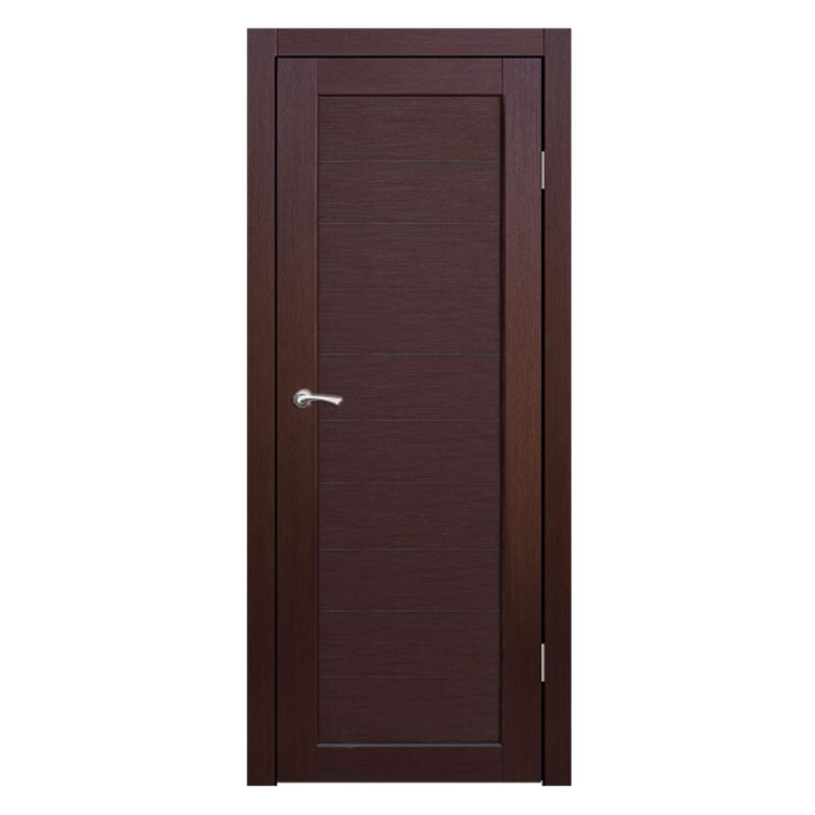 Полотно дверное глухое Легро (без молдингов) СИНЕРЖИ ноче кремоне ПВХ, ПДГ 600х2000мм