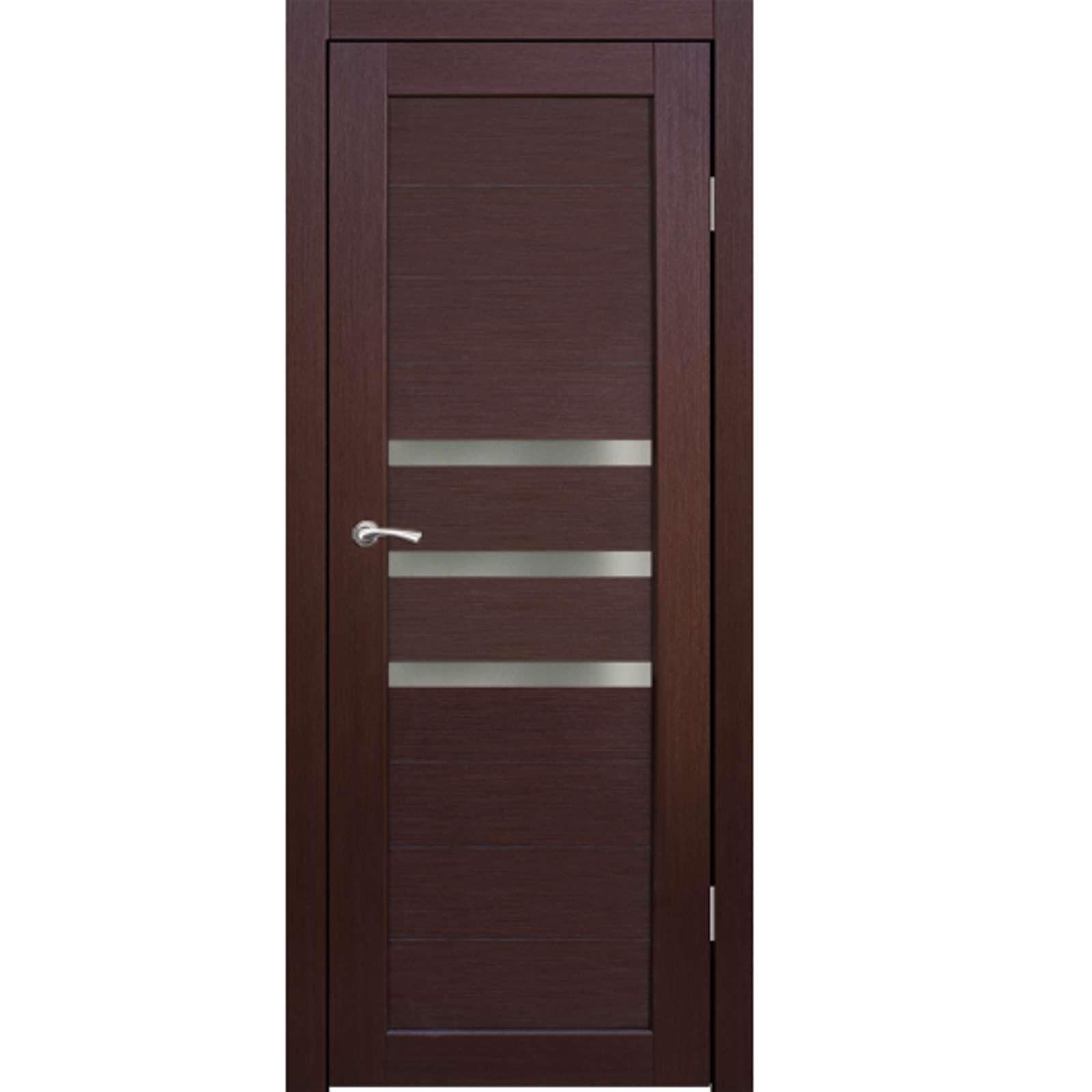 Полотно дверное остекленное Грация (стекло сатин бронза) СИНЕРЖИ ноче кремоне ПВХ, ПДО 800х2000мм