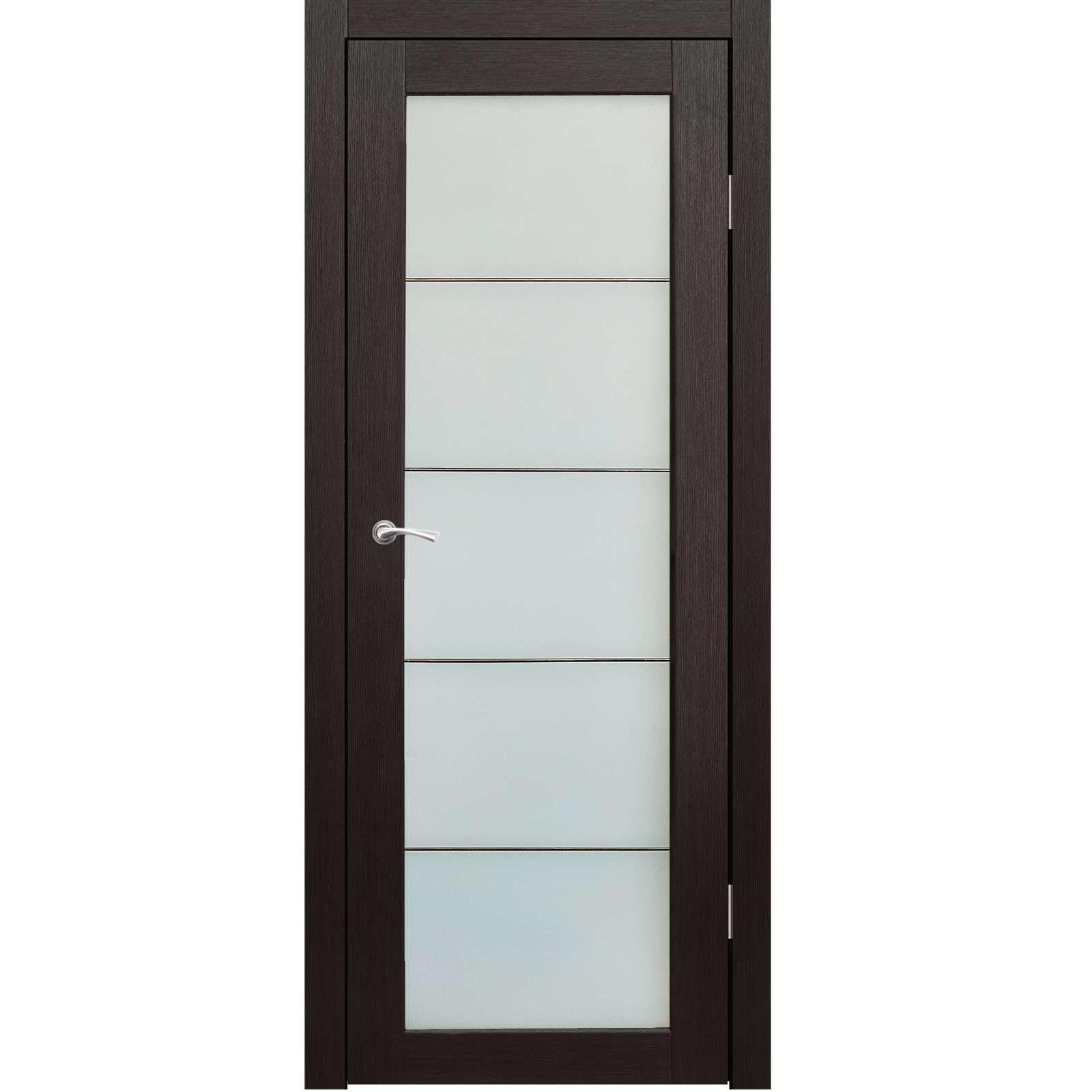 Полотно дверное остекленное Легро (без молдингов) СИНЕРЖИ венге ПВХ, ПДО 600х2000мм