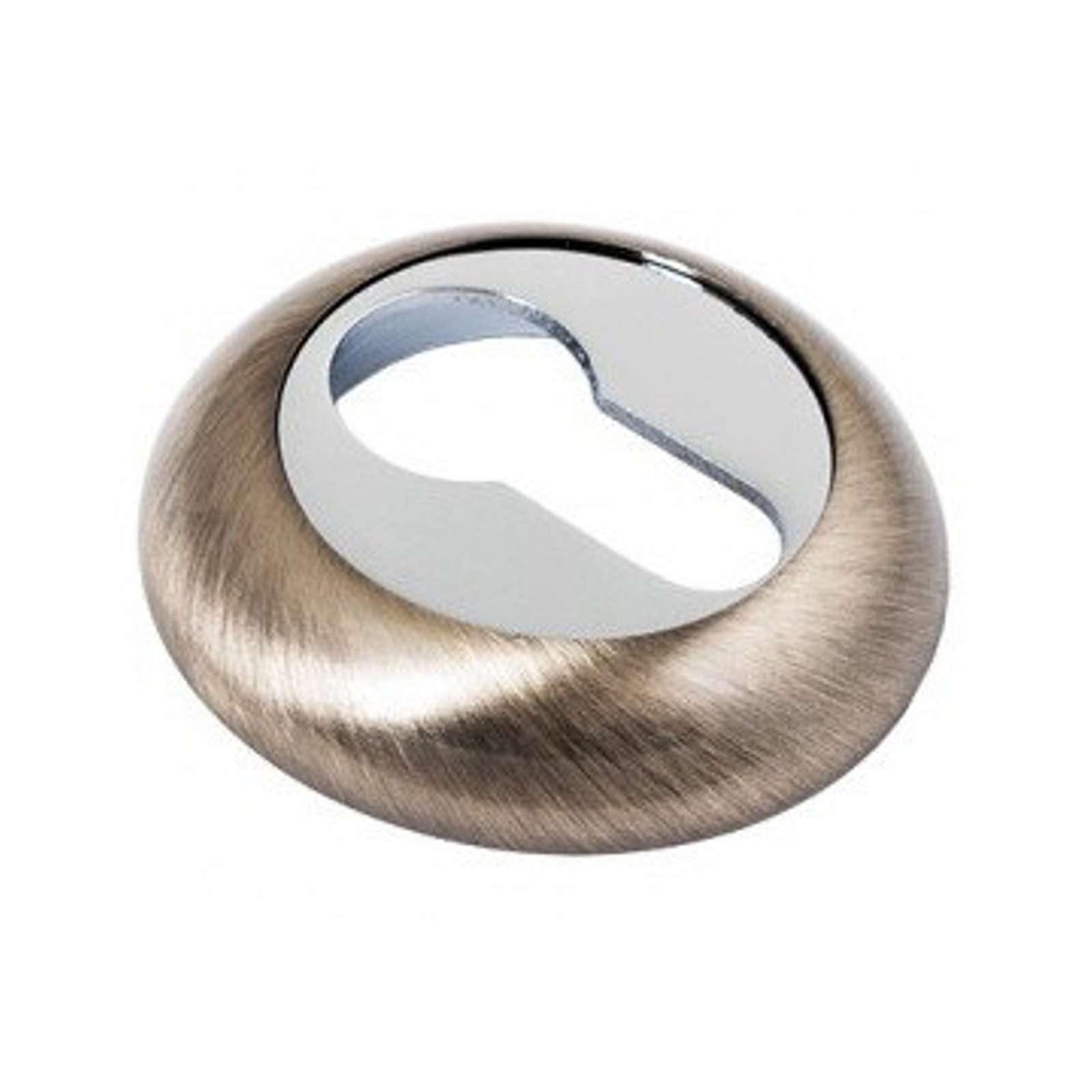 Накладка круглая ФЗ под цилиндр античная бронза