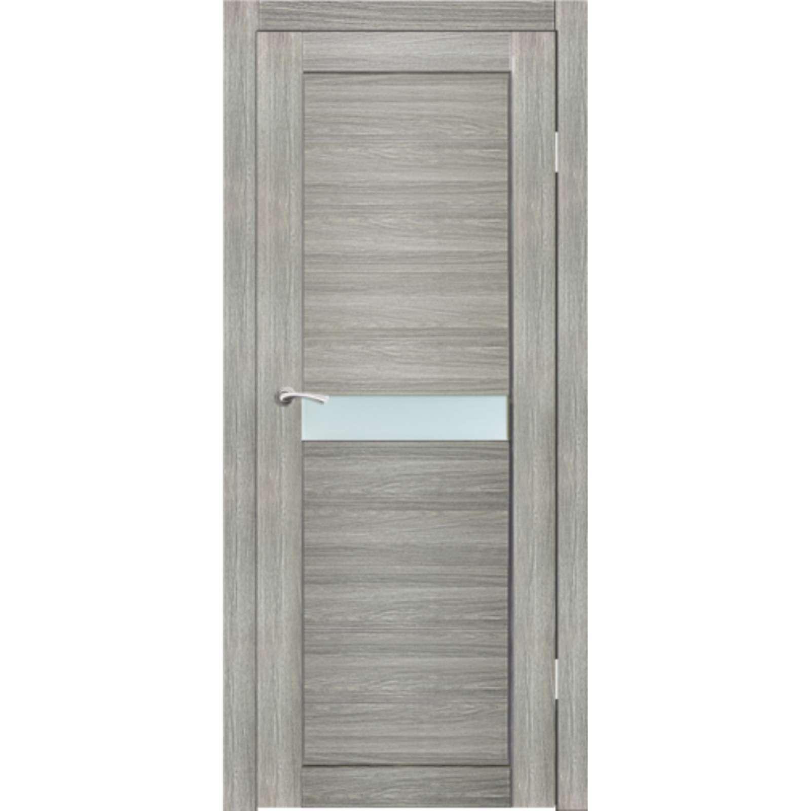 Полотно дверное остекленное Примо (стекло сатин бронза) СИНЕРЖИ ель ПВХ, ПДО 600х2000мм