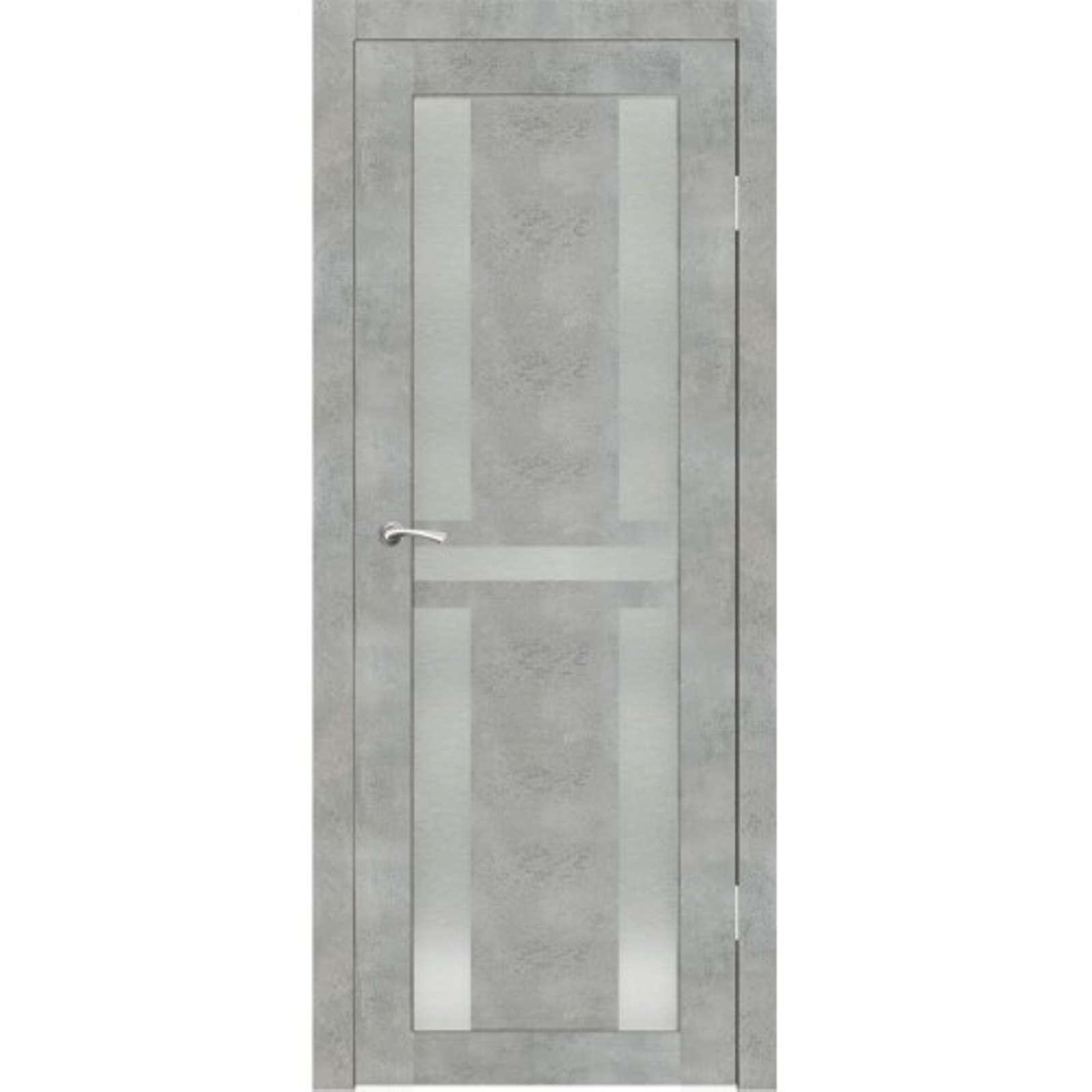 Полотно дверное остекленное Мадена СИНЕРЖИ грей ПВХ, ПДО 900х2000мм