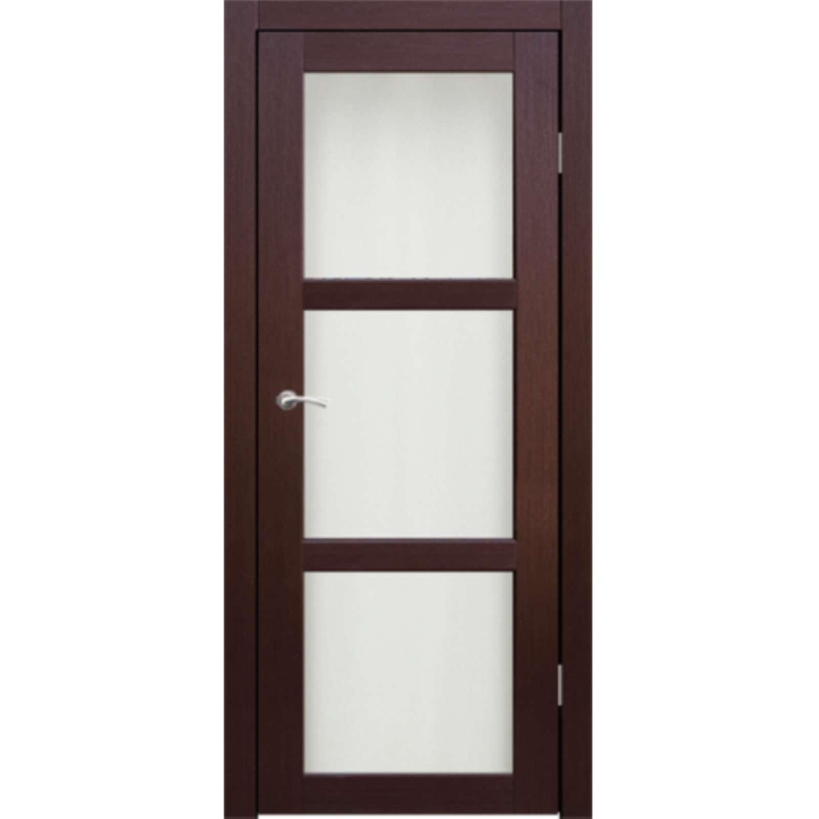 Полотно дверное остекленное Гарде (стекло Лакобель белое) СИНЕРЖИ венге ПВХ, ПДО 800х2000мм