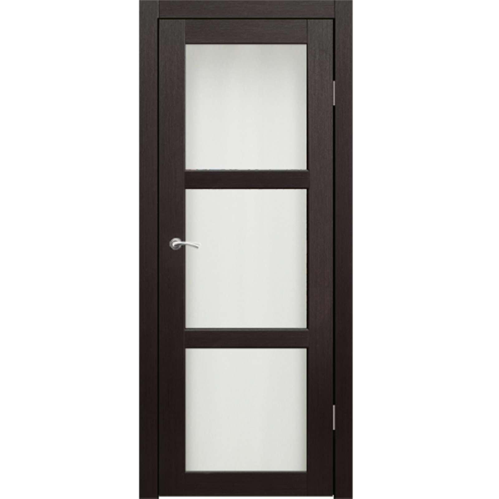 Полотно дверное остекленное Гарде (стекло Лакобель белое) СИНЕРЖИ венге ПВХ, ПДО 900х2000мм