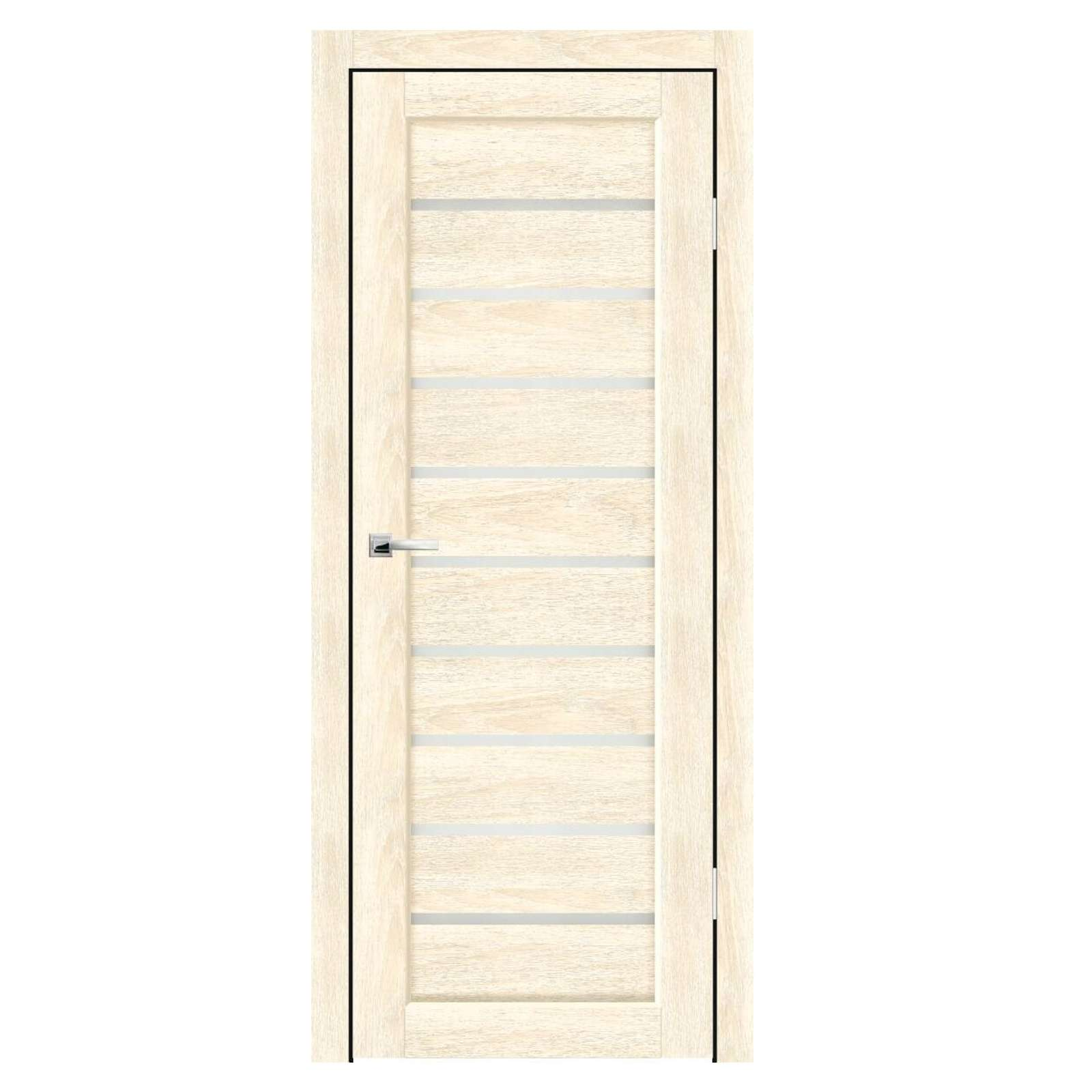 Полотно дверное остекленное Дольче СИНЕРЖИ ваниль ПВХ, ПДО 800х2000мм
