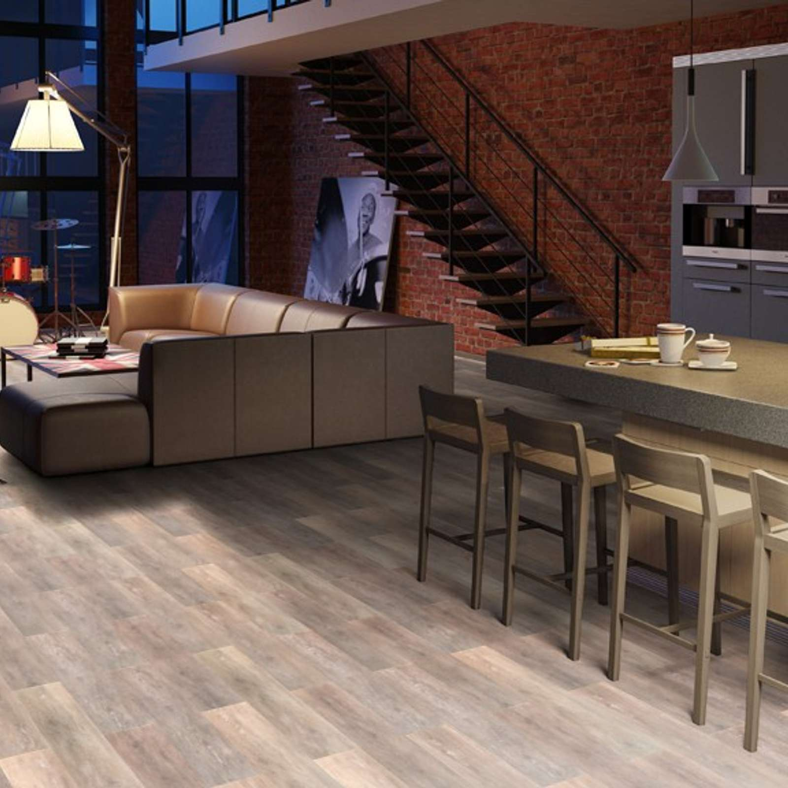 Плитка ПВХ Tarkett Art Vinil New Age Ambient 101,6х914,4x2,1мм (2,41м2/26шт/уп) 277006013