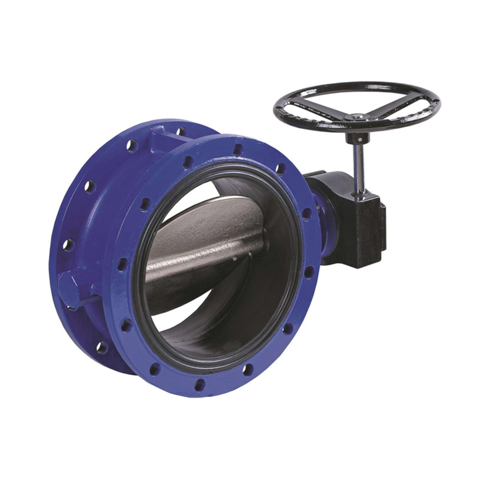 Затвор поворотный дисковый DENDOR тип 021F Ду400 Ру16 с редуктором