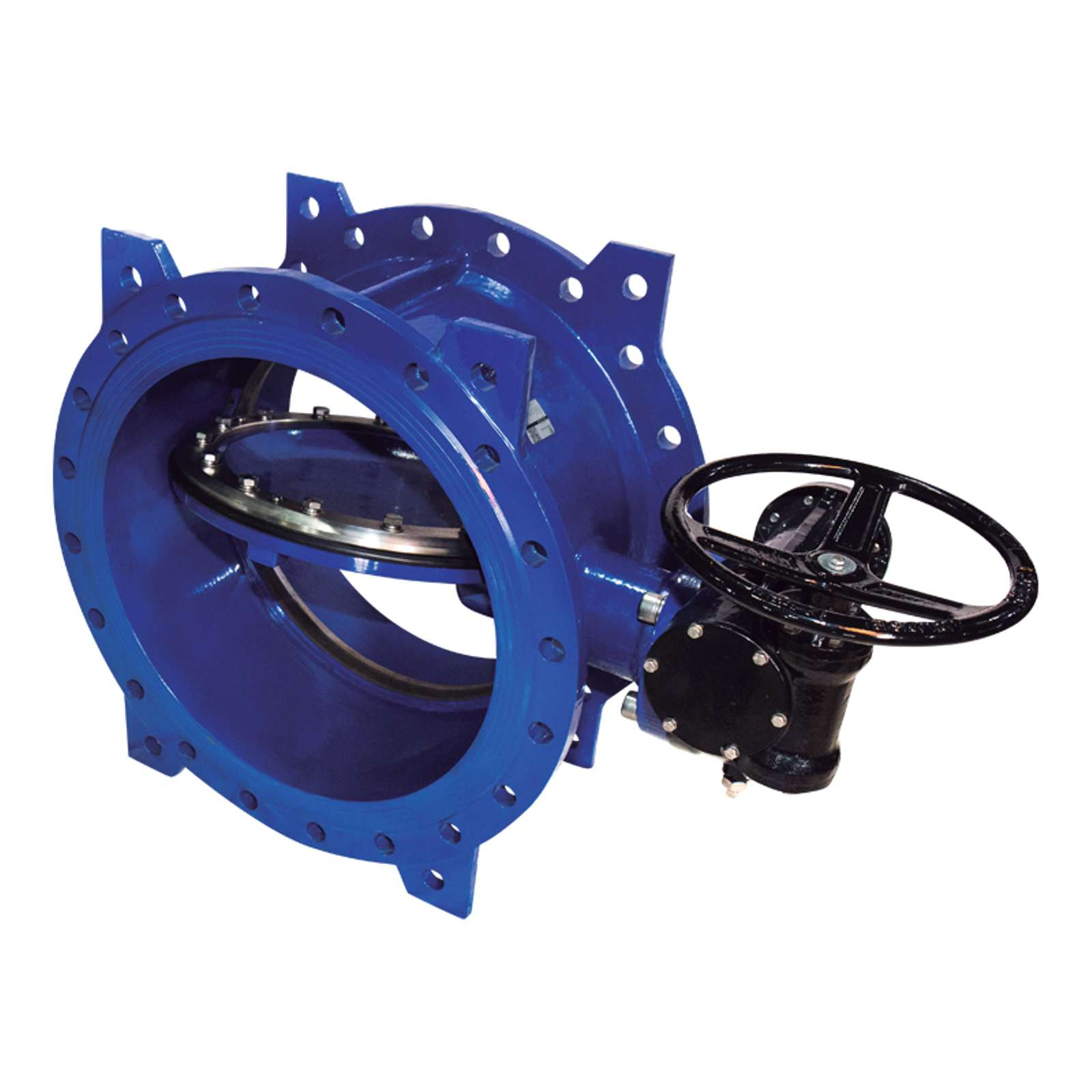 Затвор поворотный дисковый DENDOR тип 023F Ду1000 Ру16 с электроприводом
