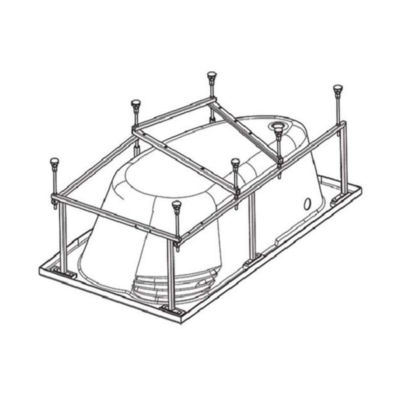 Монтажный комплект Santek к ванне Ибица XL 160х100 см