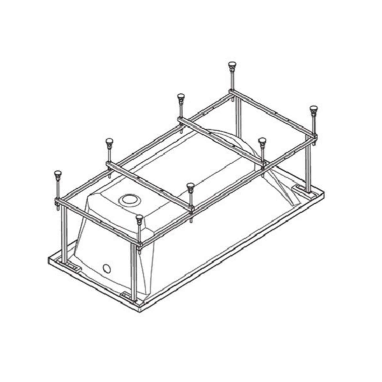 Монтажный комплект Santek к ванне Корсика 180х80 см