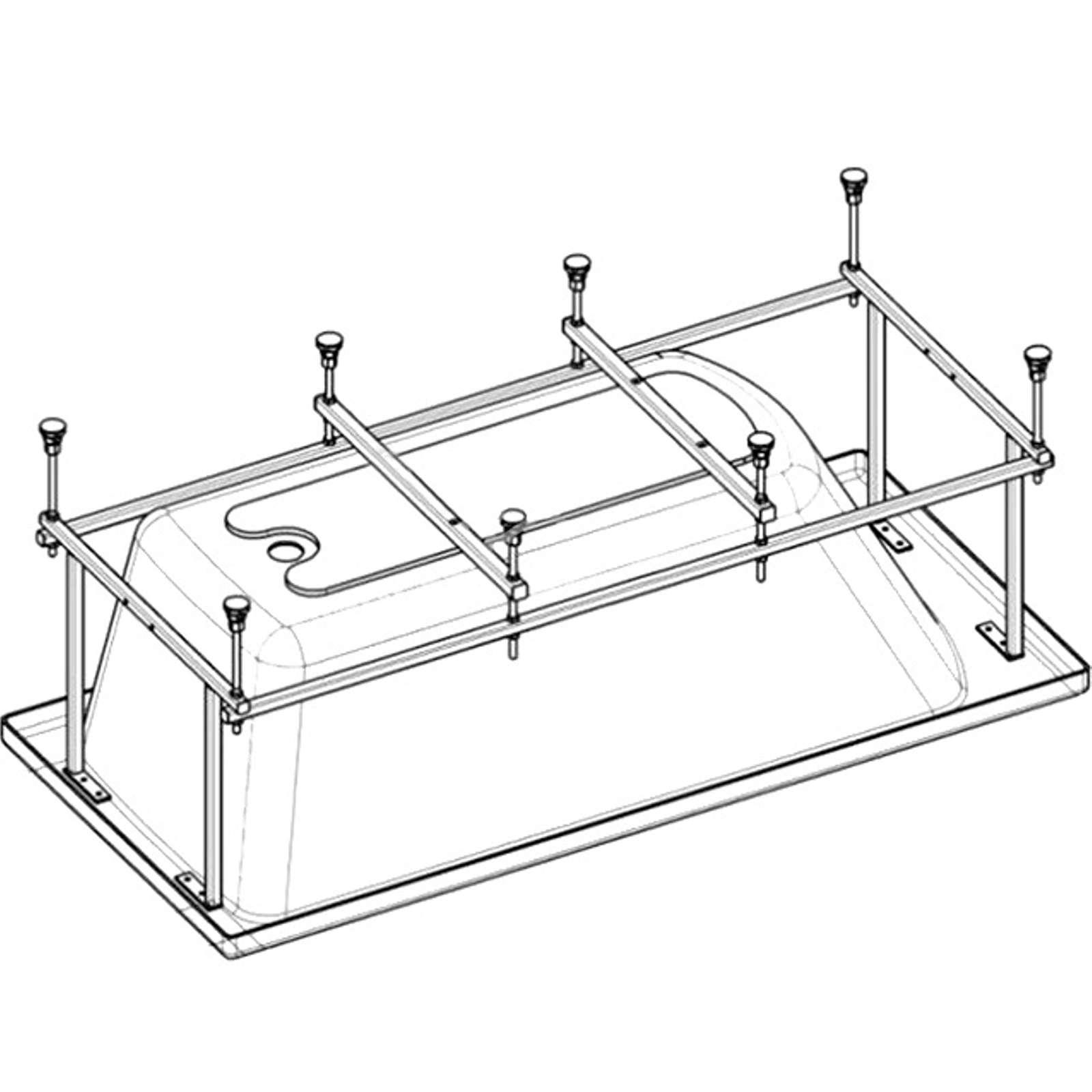 Монтажный комплект Roca к ванне Easy 170Х75 см