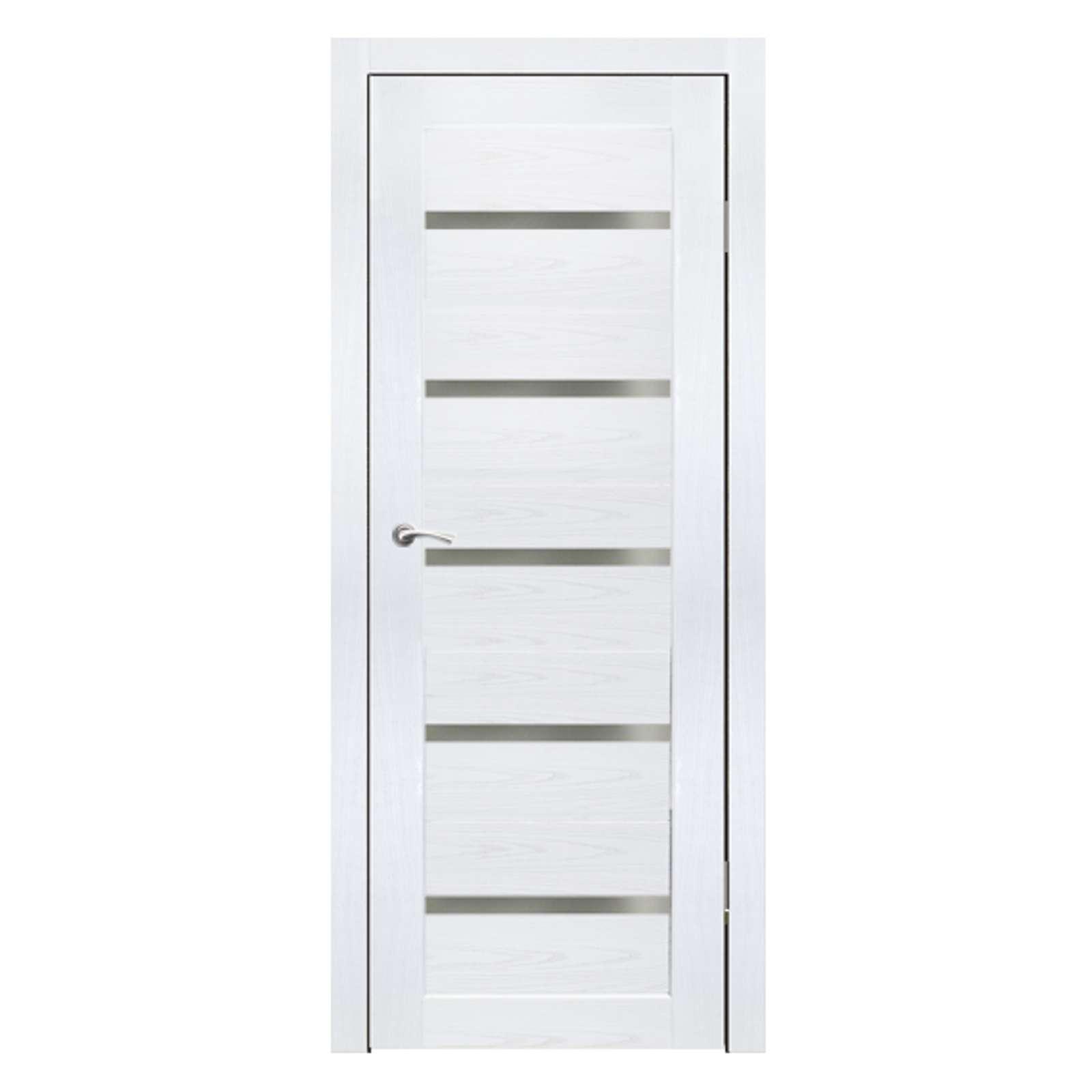 Дверное полотно Синержи Бьянка, Белый ясень, ПДО 800Х2000ММ