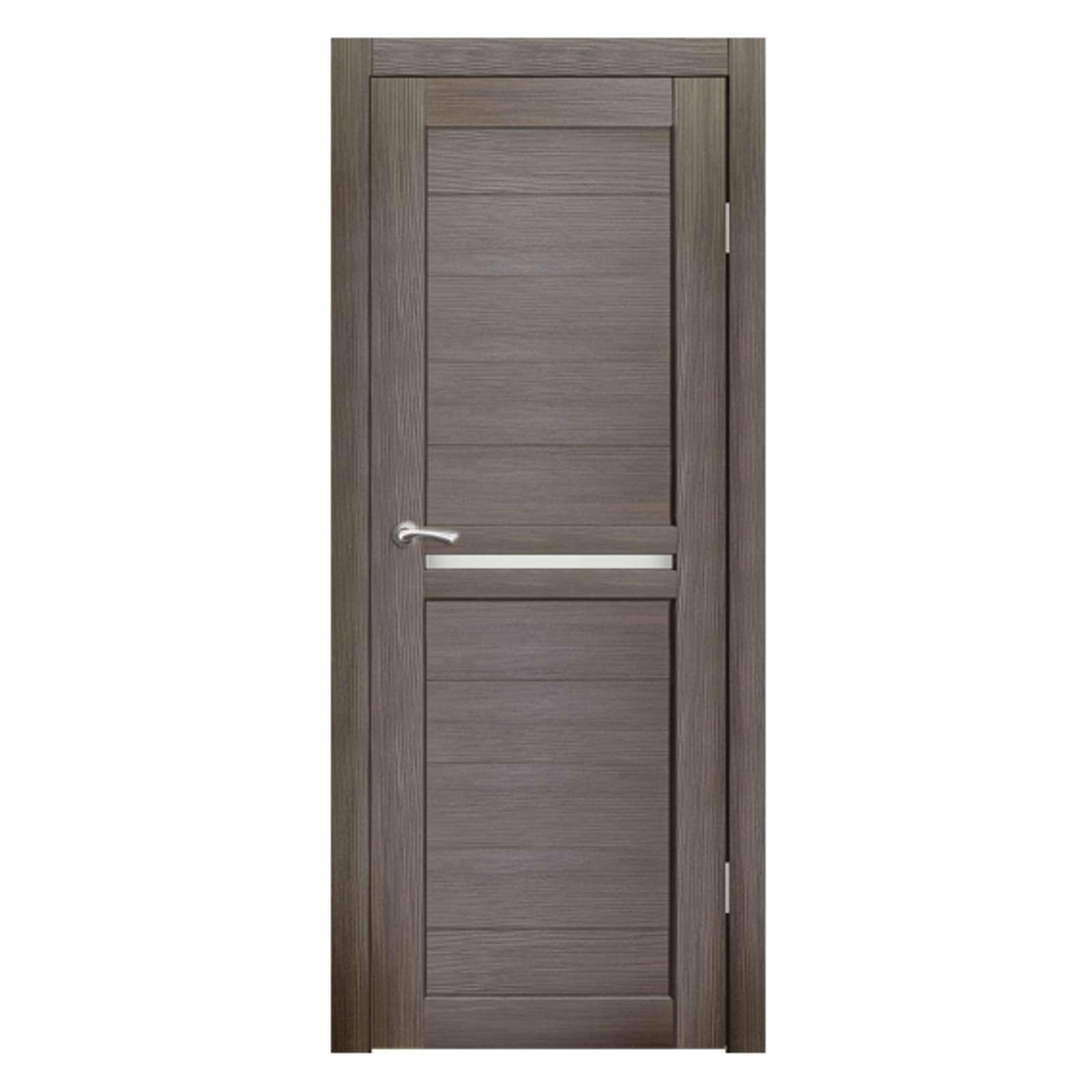Дверное полотно Синержи Лацио, Акация темная, ПДГ 600Х2000ММ