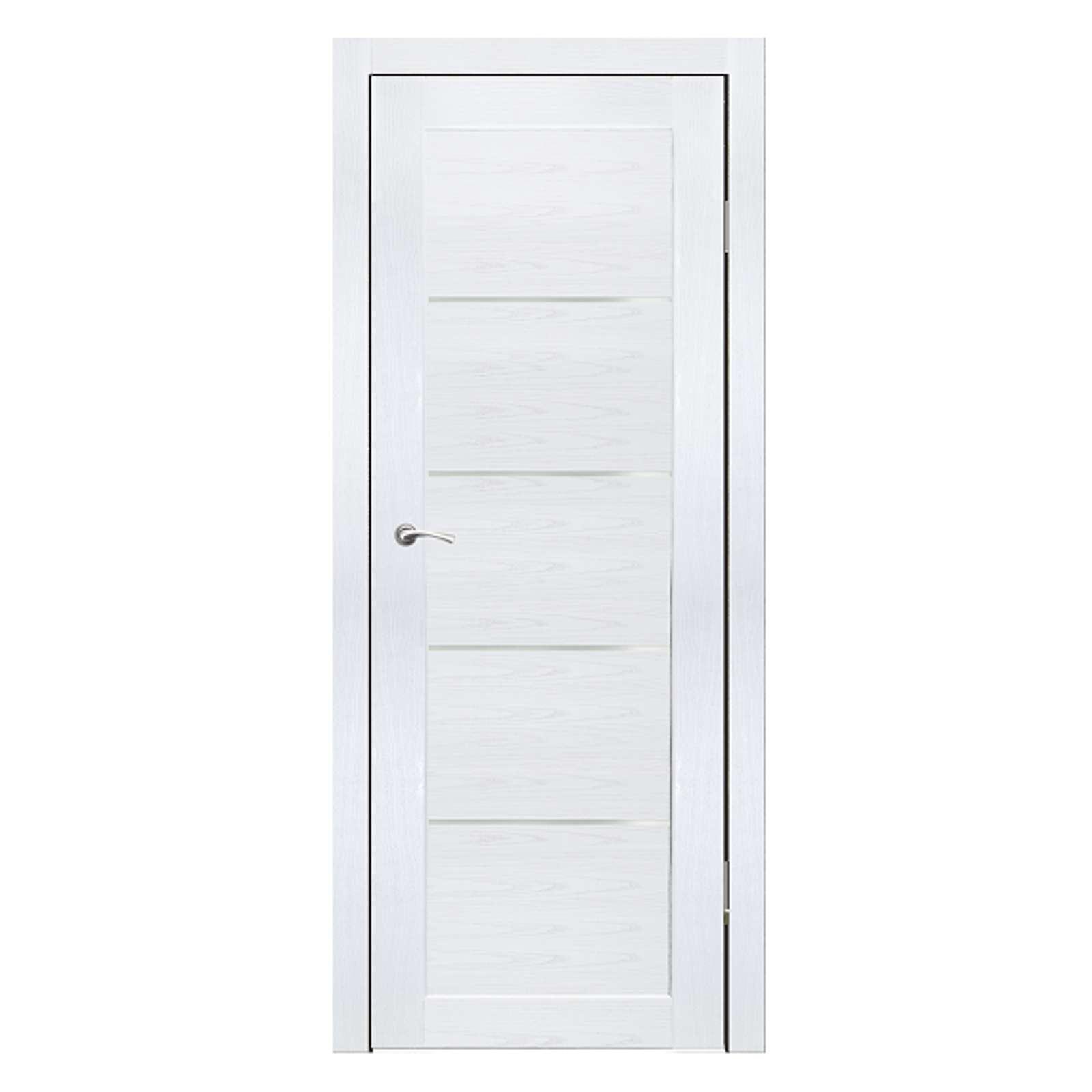 Дверное полотно Синержи Лада, Белый ясень, ПДО 600Х2000ММ