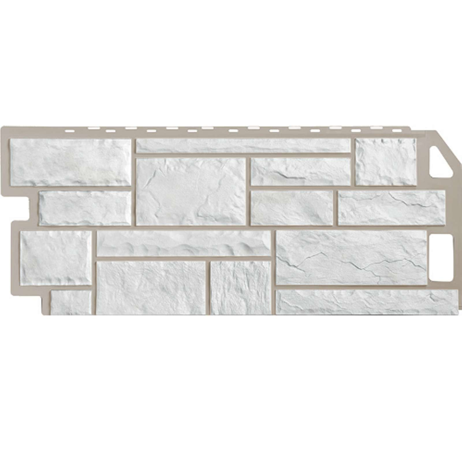 Панель фасадная FineBer Камень мелованный белый 1137х470мм