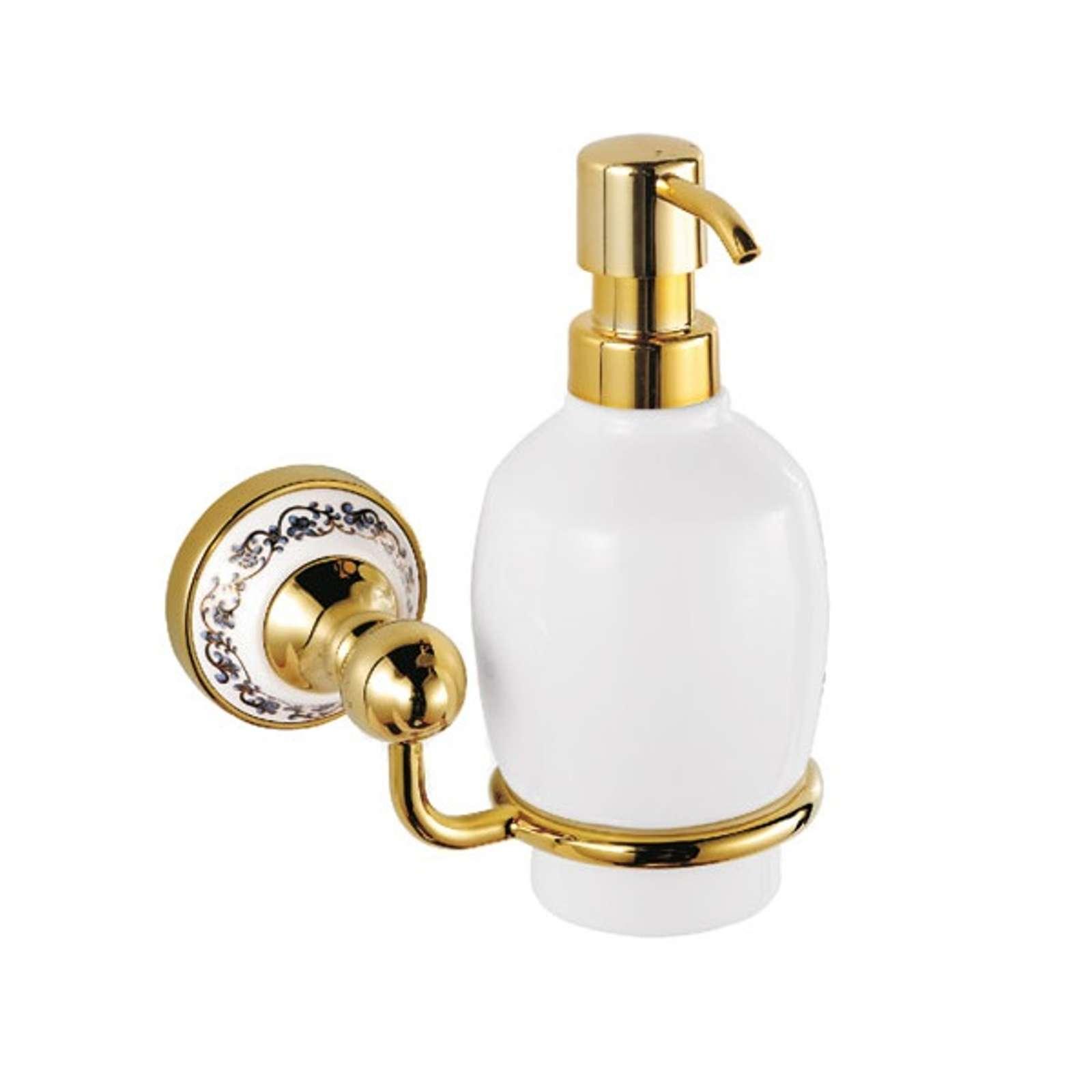 Дозатор для жидкого мыла Fixsen Bogema Gold FX-78512G стеклянный