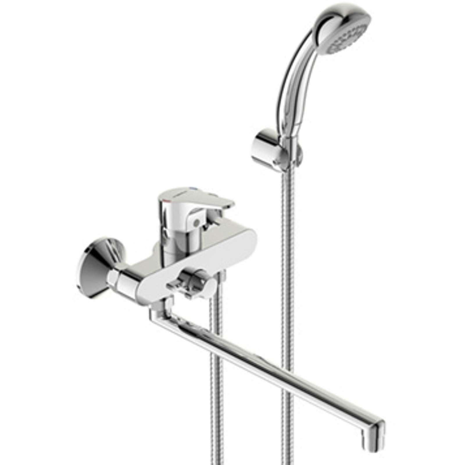 Смеситель для ванной купить в челябинске Смеситель Bandini Ice Cube 2 766.340/04 Cr на борт ванны