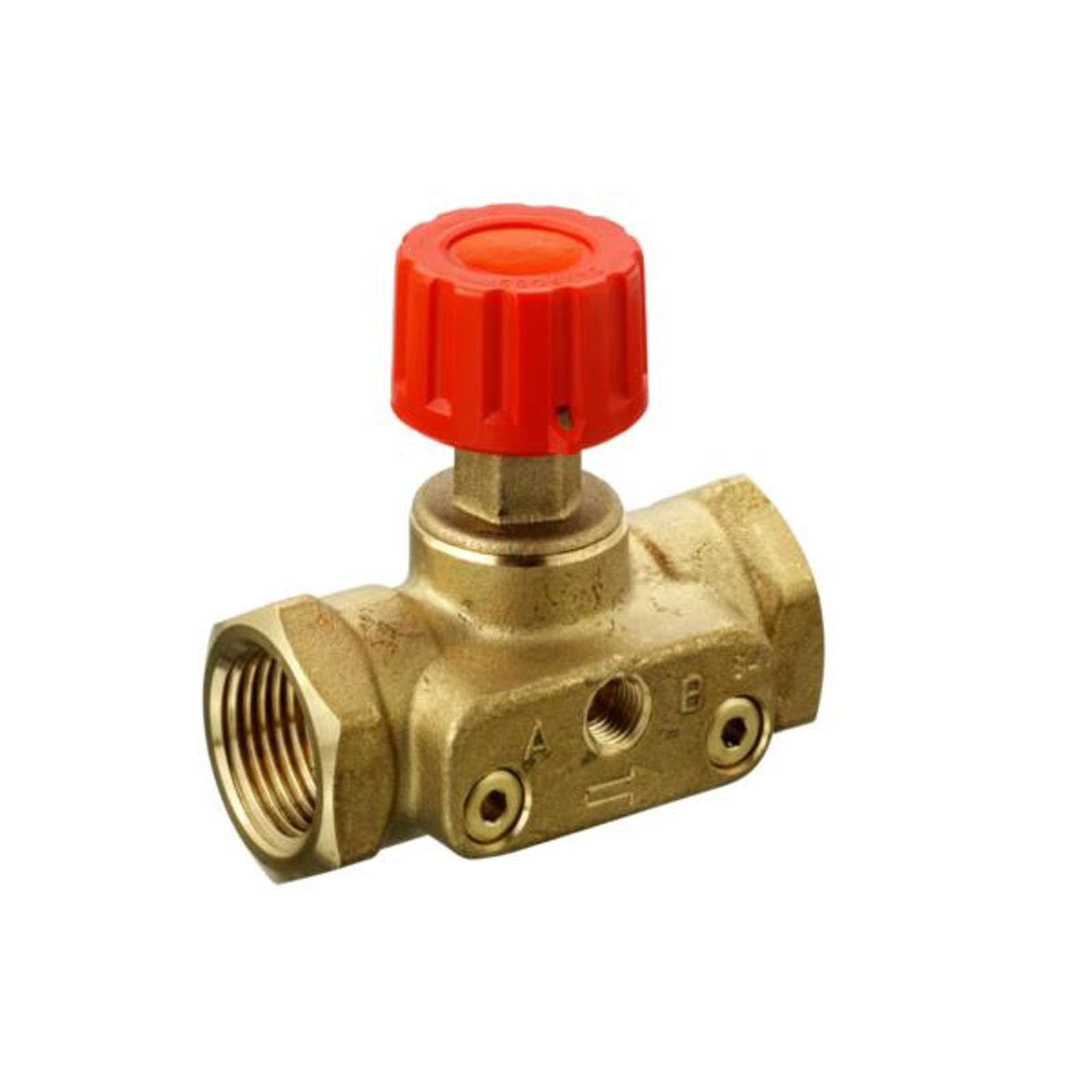 Клапан ручной запорный ASV-M, Ду20, Ру16, ВР, с возможностью подключения измерительных ниппелей, DANFOSS 003L7692