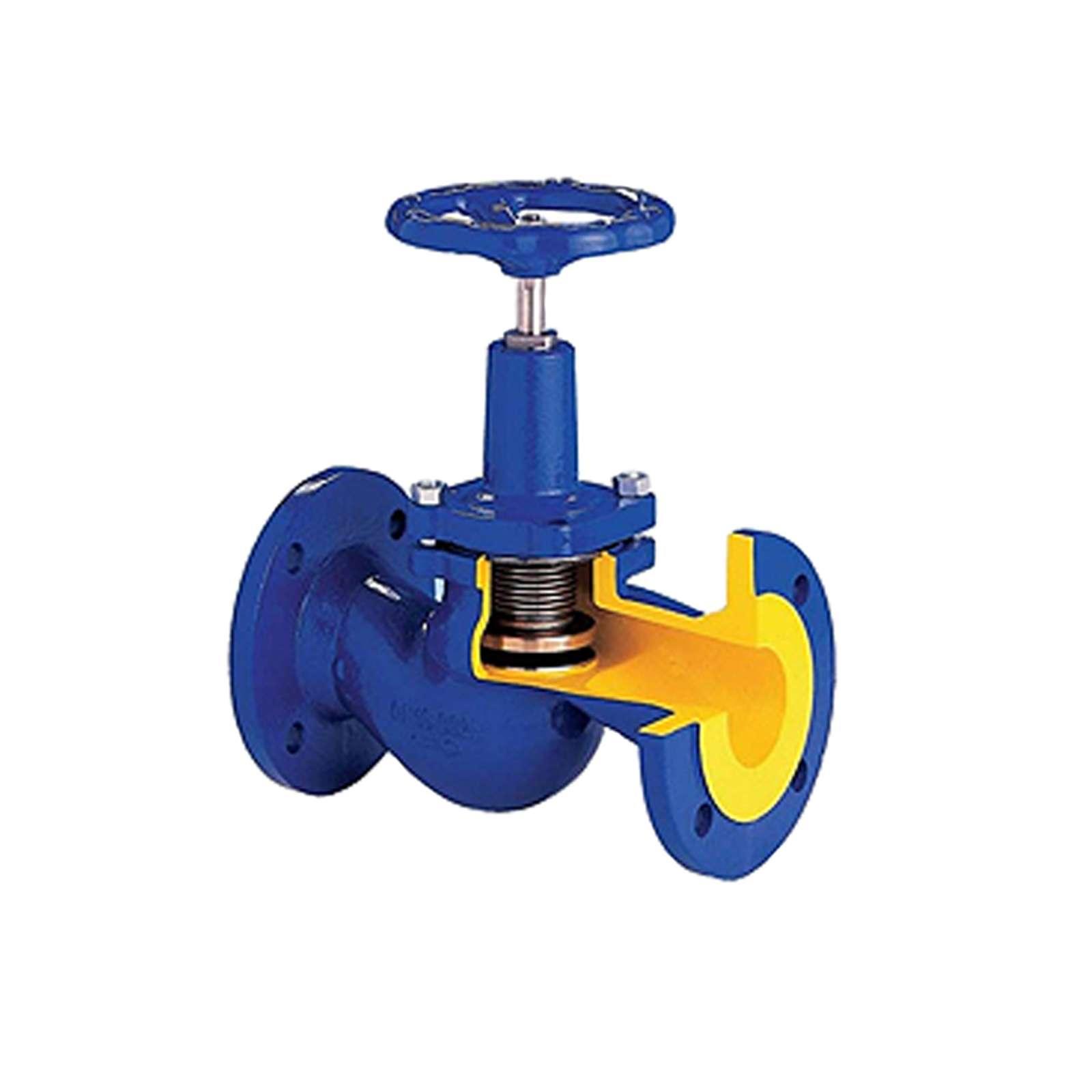Вентиль запорный для пара BROEN GG-25 ф/ф Ду 25 Ру 16 t max 300°С с сильфонным уплотнением V234-25
