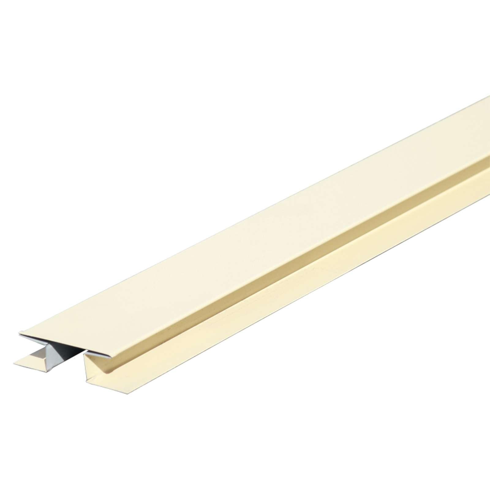 Планка стыковочн. сложная метал. (слоновая кость RAL 1014) 75х3000