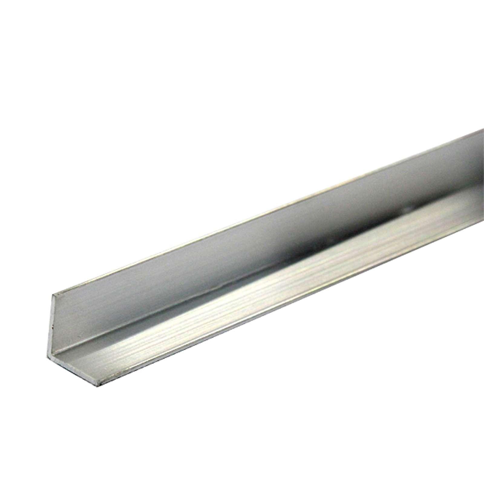 Уголок равнополочный 25х25х1,2 мм, алюминий, 2м