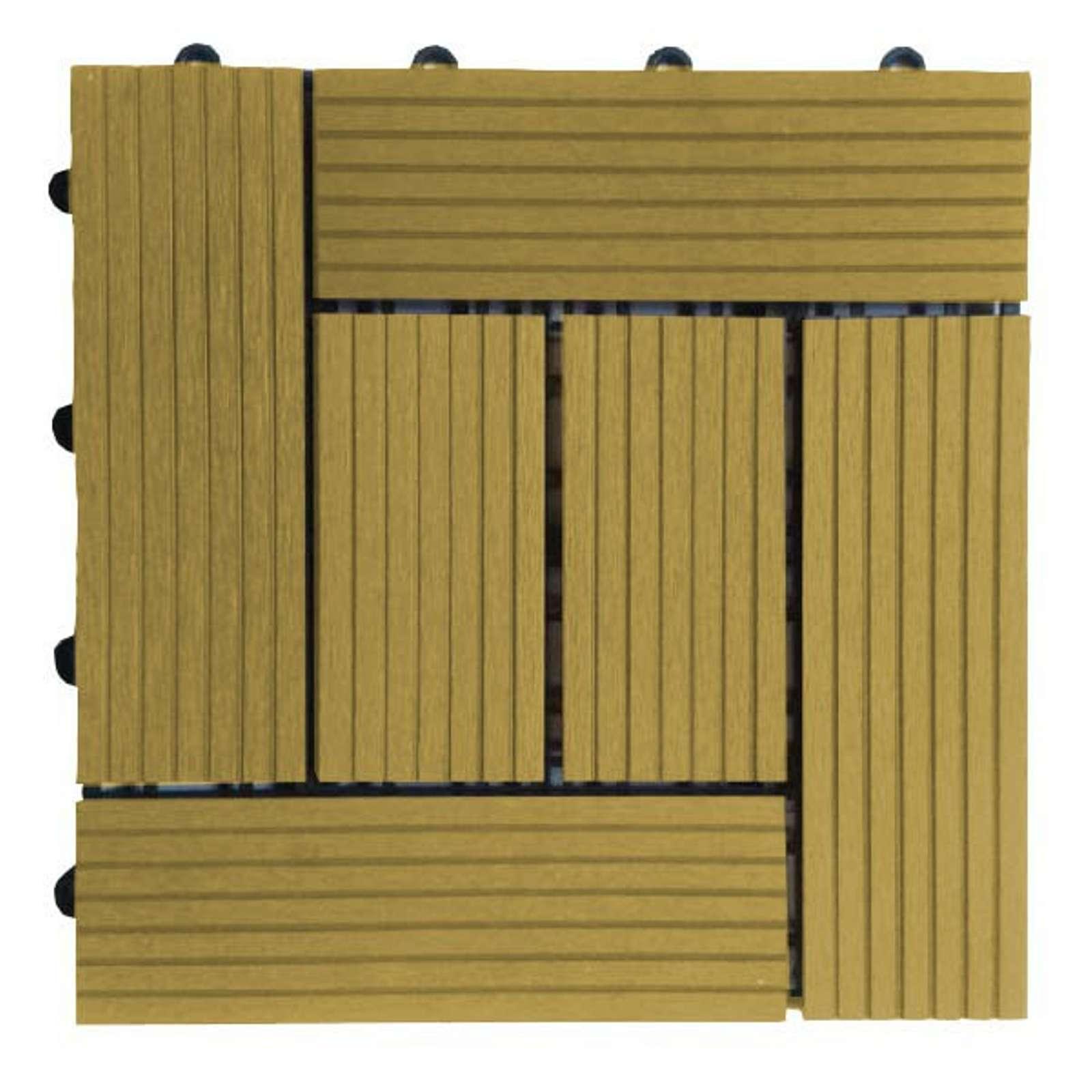 Паркет садовый, СД Гарден, Classic 300х300 мм, (упак 1 м.кв, 11 шт), Дуб