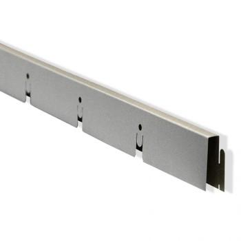Рейка Грильято папа 100х100х40 b10 A907 металлик L=0,6 (алюм)
