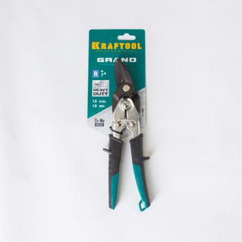 Ножницы по металлу KRAFTOOL Cr-V, правый рез, 260мм