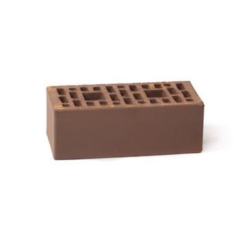 Кирпич облицовочный пустотелый полуторный М-100/150, шоколад, Копейск (499шт)