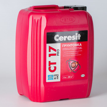 Грунтовка Ceresit CT17 PRO, 5л