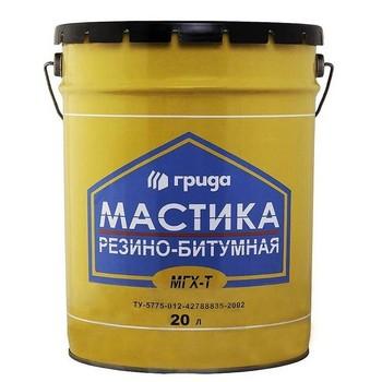 Мастика резиново-битумная Грида МГХ-Т, 18 кг