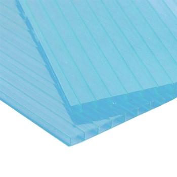 Сотовый поликарбонат, бирюзовый 4мм (2,1мх12)